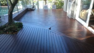 Completed deck area